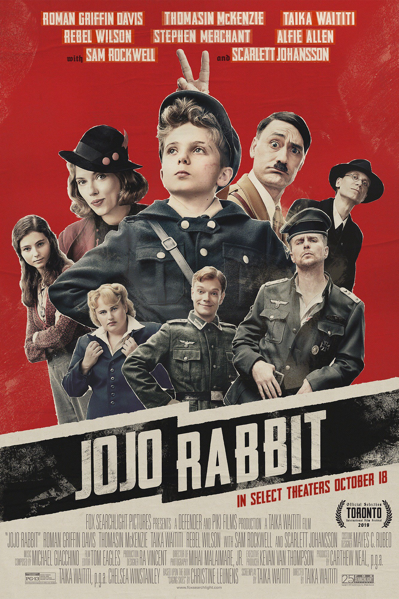 Image result for Jojo Rabbit Movie poster