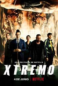 Sergio Peris-Mencheta, Óscar Jaenada, Óscar Casas, Andrea Duro, and Teo García in Xtremo (2021)