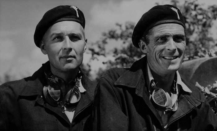 Ralph Clanton and Edward Underdown in They Were Not Divided (1950)