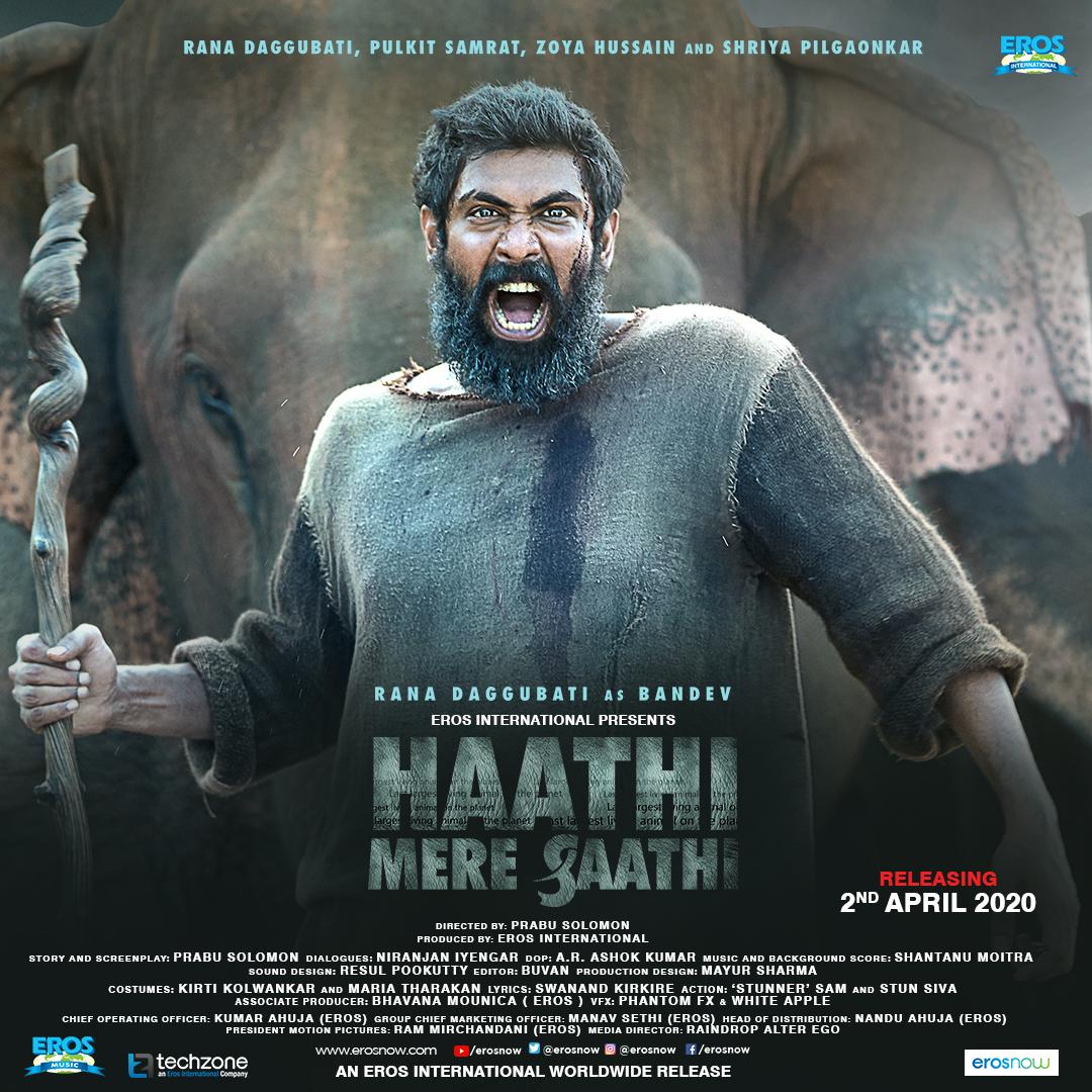 Haathi Mere Saathi (2021) Hindi Dubbed Movie 480p HDRip x264 400MB Download