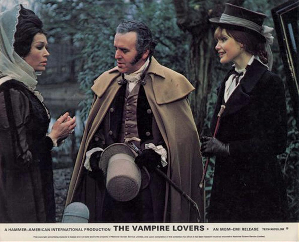 Dawn Addams, George Cole, and Madeline Smith in The Vampire Lovers (1970)