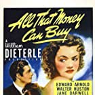 James Craig, Anne Shirley, Simone Simon, and Anita Lee in All That Money Can Buy (1941)