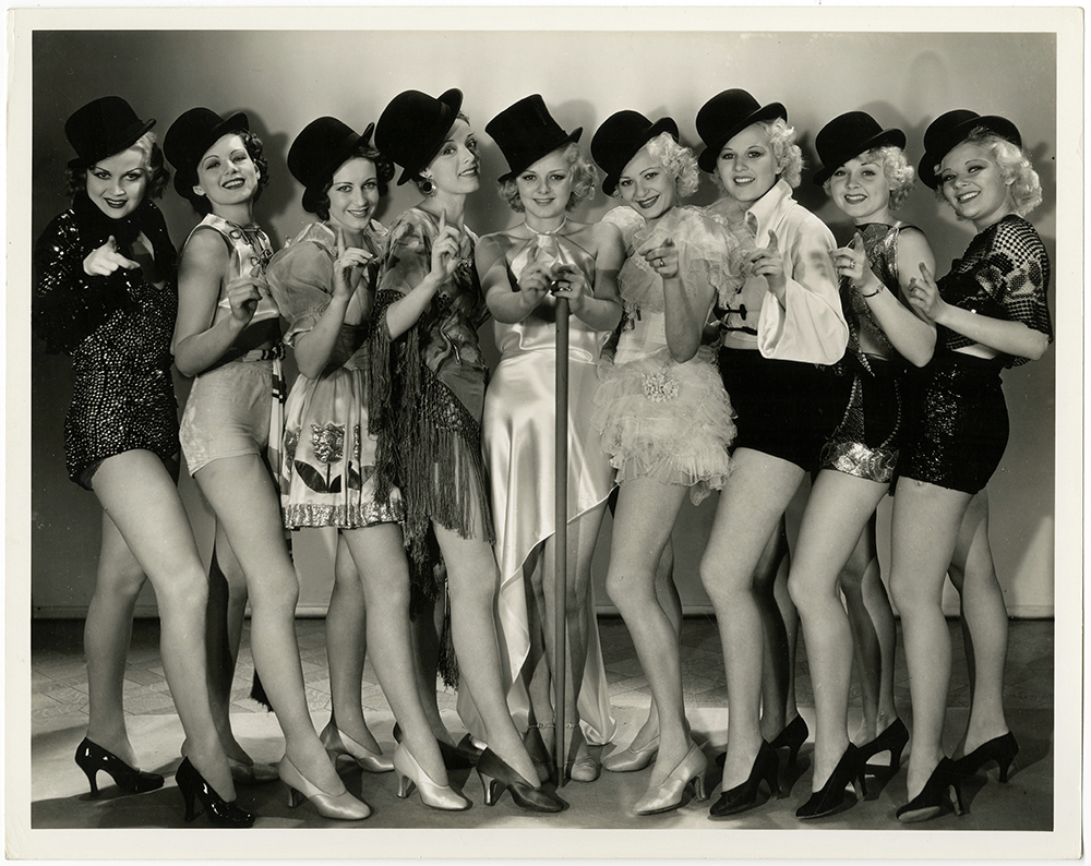 Loretta Andrews, Monica Bannister, Eleanor Bayley, De Don Blunier, Diane Bourget, Margaret Carthew, Dolores Casey, Mary Cassidy, Beatrice Coleman, and Mary Casiday in Dames (1934)