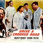 Mickey Rooney, Kevin McCarthy, Dianne Foster, Jack Kelly, and Paul Picerni in Drive a Crooked Road (1954)