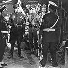 Albert Dinan, Michael Medwin, Ralph Meeker, and Yossi Yadin in Die Vier im Jeep (1951)