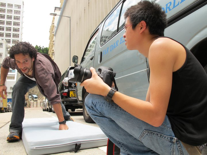 Steven Dasz and Caius Chung in Out of the Blue (2011)