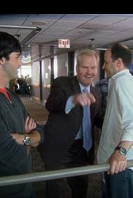 Jim Gaffigan, Kyle Howard, Jordana Spiro, Reid Scott, and Michael Bunin in My Boys (2006)