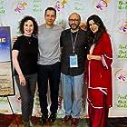 Kevin Mukherji, Carlos Sanz, Madeline Bernstein, and Qumaru Nisa at an event for I Am You (2017)