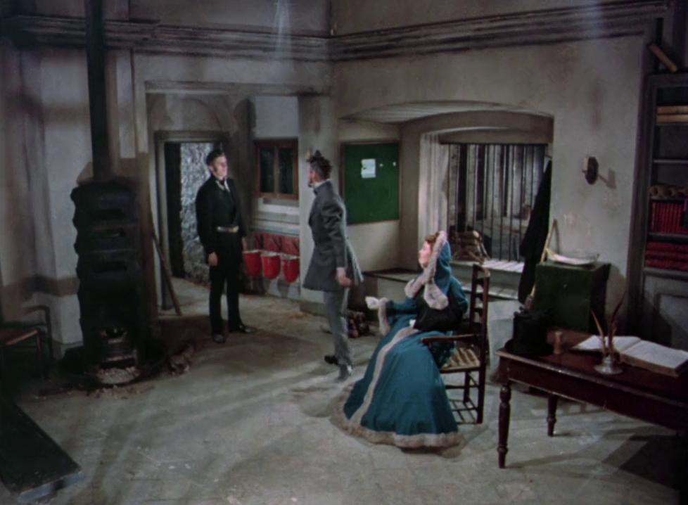 Hazel Court, Michael Mulcaster, and Robert Urquhart in The Curse of Frankenstein (1957)