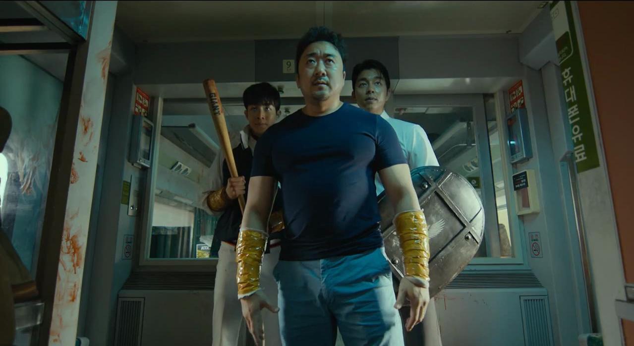 Yoo Gong, Dong-seok Ma, and Woo-sik Choi in Busanhaeng (2016)