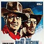 Robert Mitchum and John Wayne in El Dorado (1966)