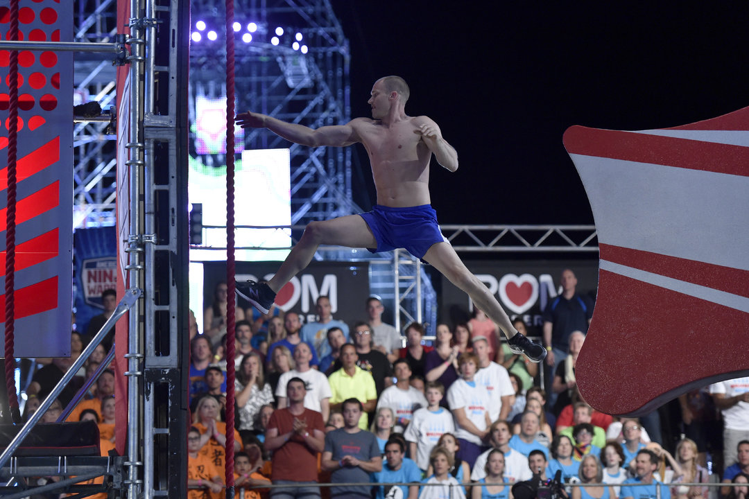 Brian Arnold at an event for American Ninja Warrior (2009)