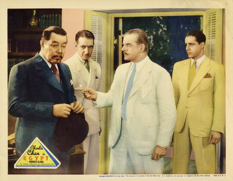 Thomas Beck, Frank Conroy, Warner Oland, and Jameson Thomas in Charlie Chan in Egypt (1935)