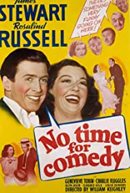 James Stewart, Louise Beavers, Allyn Joslyn, Charles Ruggles, Rosalind Russell, and Genevieve Tobin in No Time for Comedy (1940)