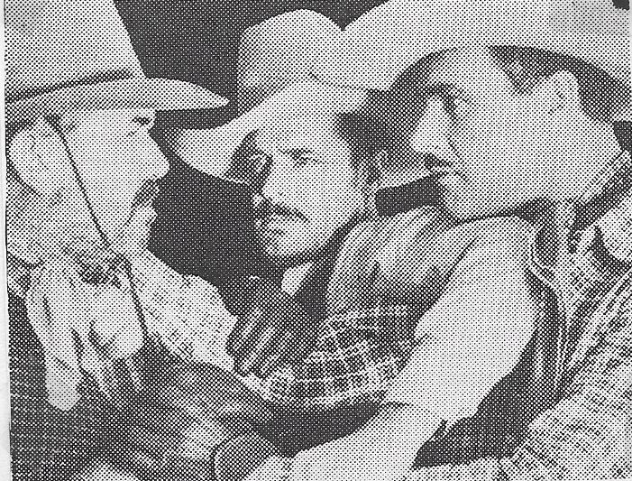 Lane Chandler, Hal Taliaferro, and Slim Whitaker in The Lone Bandit (1935)