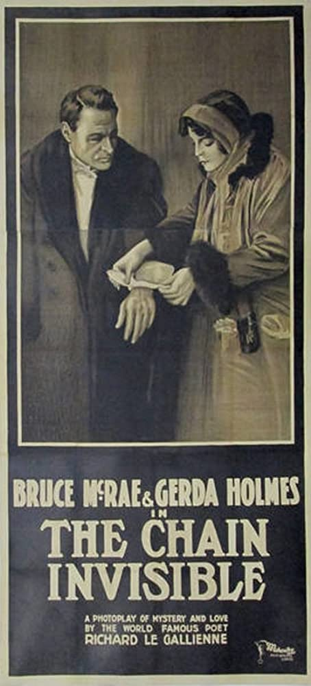 Gerda Holmes and Bruce McRae in The Chain Invisible (1916)