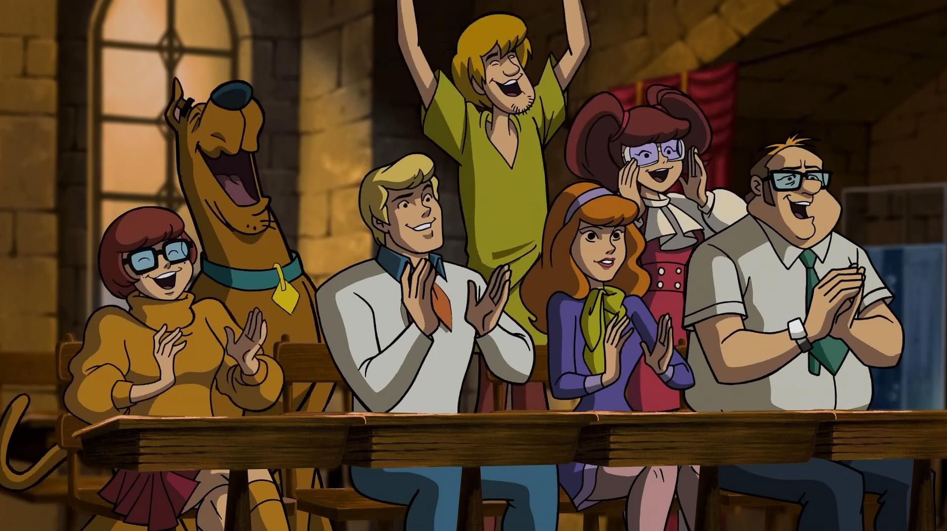 Matthew Lillard, Danica McKellar, Mindy Cohn, Grey Griffin, Brian Posehn, and Frank Welker in Scooby-Doo! Abracadabra-Doo (2010)