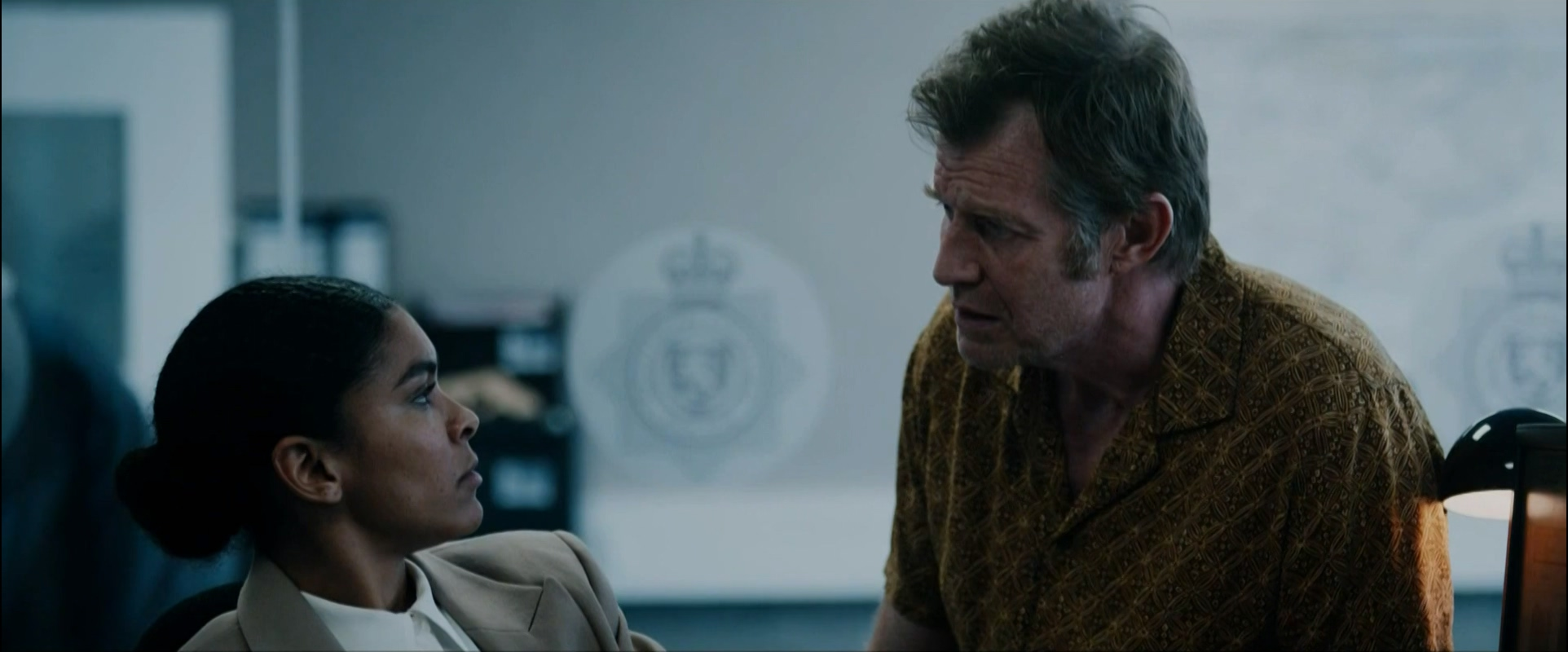 Jason Flemyng and Thalissa Teixeira in Two Weeks to Live (2020)