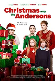Christy Carlson Romano, Julie Brown, George Stults, Luke Judy, and Savannah Judy in Christmas with the Andersons (2016)