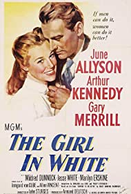 June Allyson and Arthur Kennedy in The Girl in White (1952)