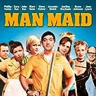 Steve Hytner, Jane Lynch, Justina Machado, Sara Rue, and Phillip Vaden in Man Maid (2008)