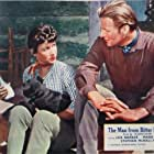 Lex Barker and Mara Corday in The Man from Bitter Ridge (1955)