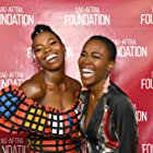 DeWanda Wise and Sasheer Zamata at an event for The Weekend (2018)