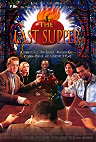 Cameron Diaz, Annabeth Gish, Courtney B. Vance, Ron Eldard, and Jonathan Penner in The Last Supper (1995)