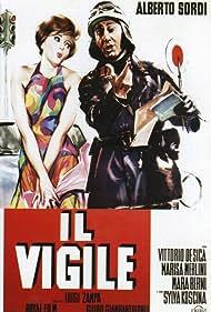 Sylva Koscina and Alberto Sordi in Il vigile (1960)