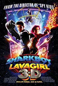 George Lopez, Taylor Lautner, and Taylor Dooley in The Adventures of Sharkboy and Lavagirl 3-D (2005)