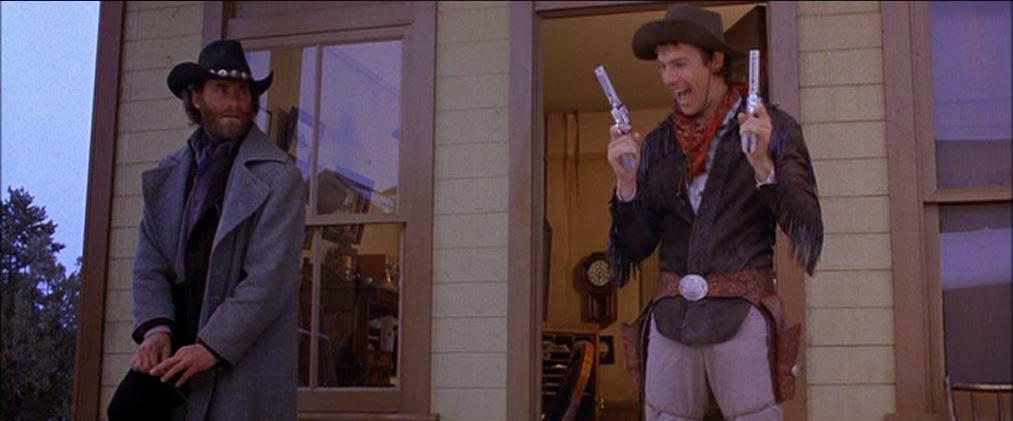 Kevin Costner and Kevin Kline in Silverado (1985)
