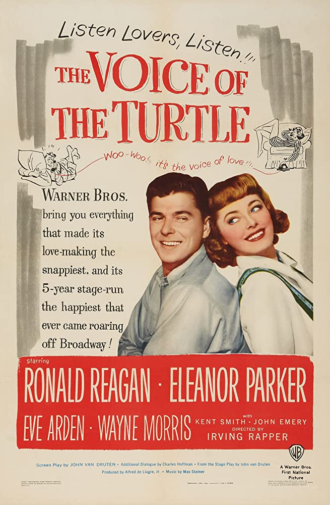 Ronald Reagan and Eleanor Parker in The Voice of the Turtle (1947)