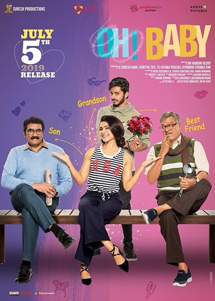 Oh! Baby 2019 Telugu Movie 720p HDRip 700MB ESub Download