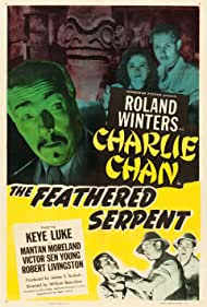 Carol Forman, Robert Livingston, Keye Luke, and Roland Winters in The Feathered Serpent (1948)