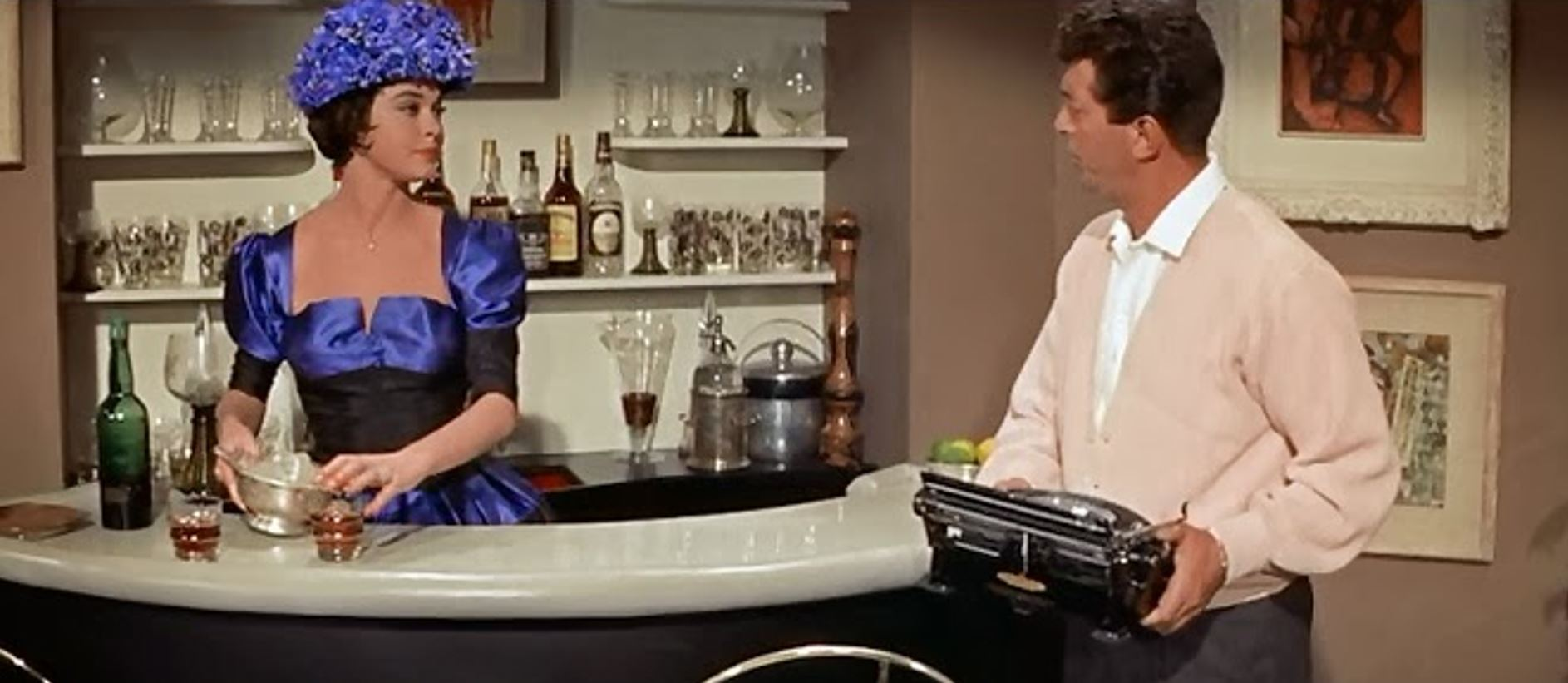 Dean Martin and Valerie Allen in Bells Are Ringing (1960)