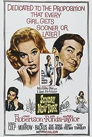 Jane Fonda, Rod Taylor, Jo Morrow, and Cliff Robertson in Sunday in New York (1963)