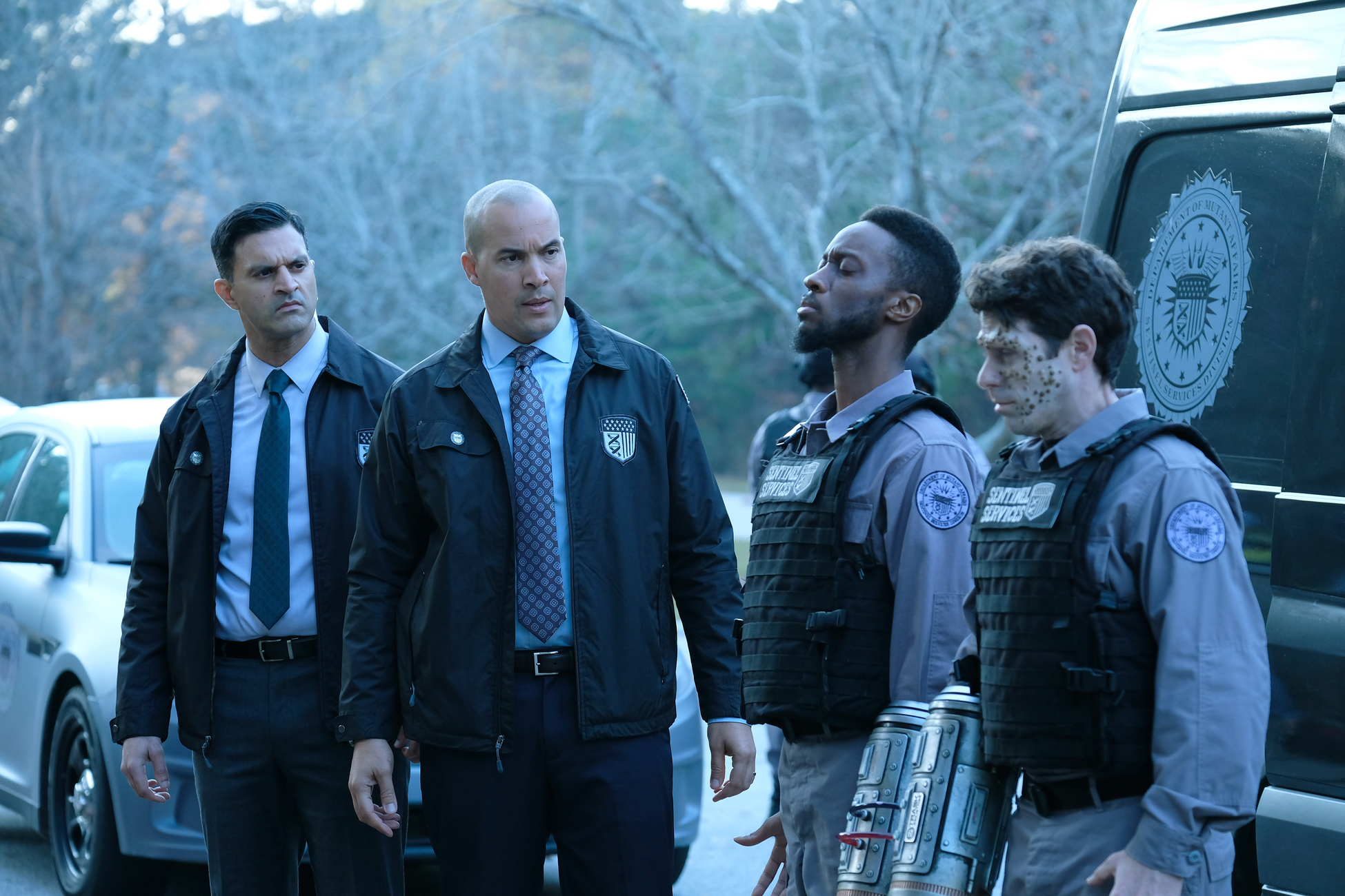 Coby Bell, David Shae, Elliott Dixon, and Vishesh Chachra in The Gifted (2017)