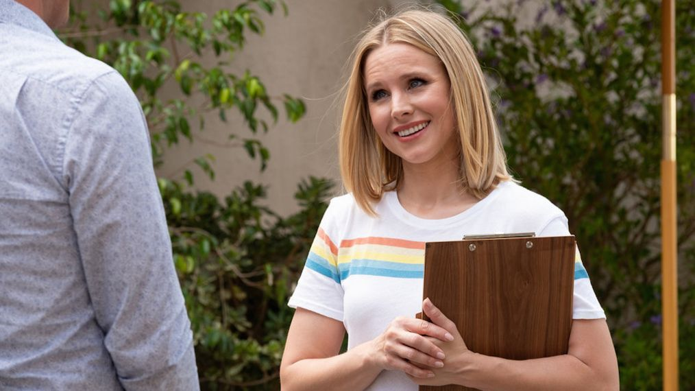 Kristen Bell and Brandon Scott Jones in The Good Place (2016)