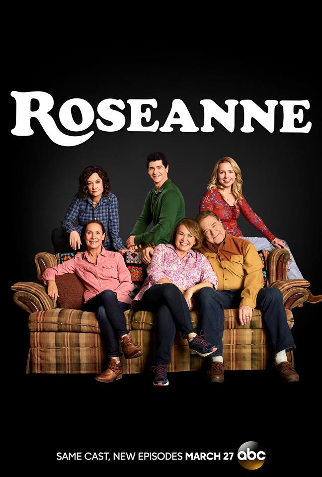 John Goodman, Roseanne Barr, Sara Gilbert, Michael Fishman, Alicia Goranson, and Laurie Metcalf in Roseanne (1988)