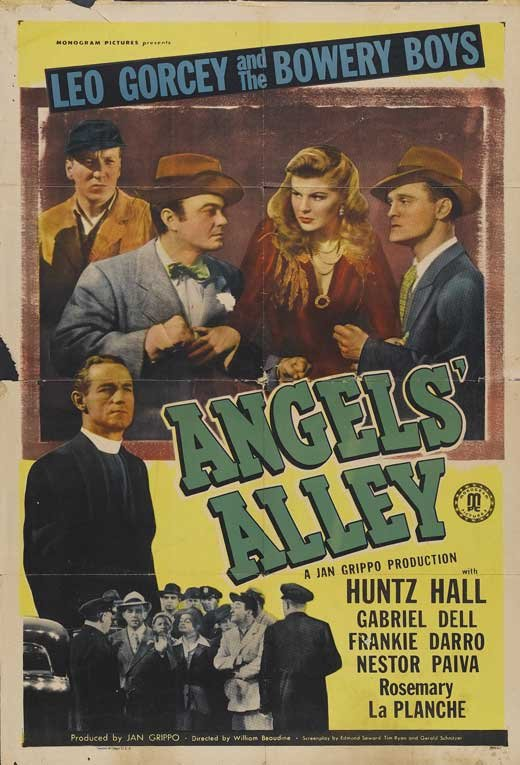 Frankie Darro, Leo Gorcey, Huntz Hall, Rosemary La Planche, and Nelson Leigh in Angels' Alley (1948)