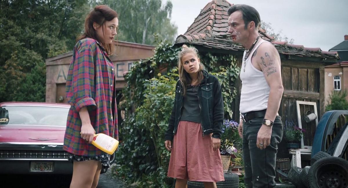 Ivan Trojan, Kristýna Boková, and Veronika Marková in Bourák (2020)