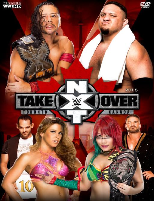 Mickie James, Joe Seanoa, Bobby Roode, Ronnie Arniell, Shinsuke Nakamura, and Kanako Urai in NXT TakeOver: Toronto (2016)