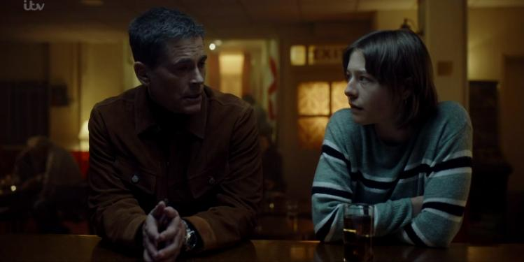 Rob Lowe and Emma D'Arcy in Wild Bill (2019)