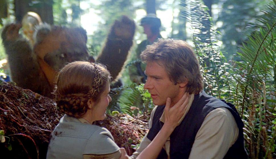 Harrison Ford and Carrie Fisher in Star Wars: Episode VI - Return of the Jedi (1983)