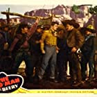 Wallace Beery, Ronald Reagan, Chris-Pin Martin, and Charles Stevens in The Bad Man (1941)