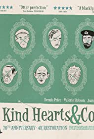 Alec Guinness, Joan Greenwood, Valerie Hobson, and Dennis Price in Kind Hearts and Coronets (1949)