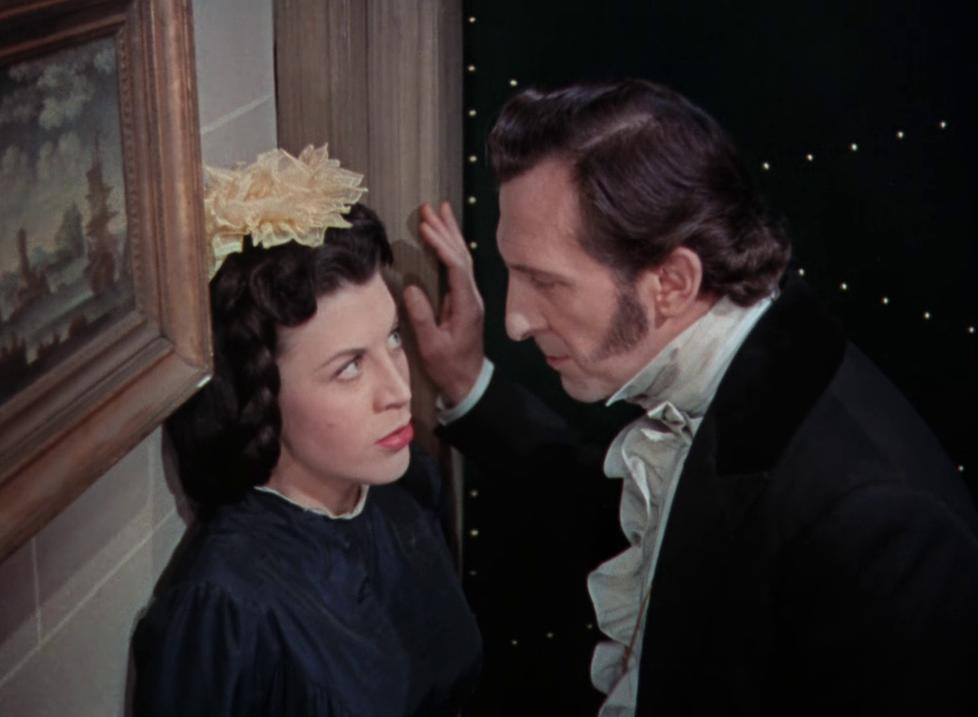 Peter Cushing and Valerie Gaunt in The Curse of Frankenstein (1957)