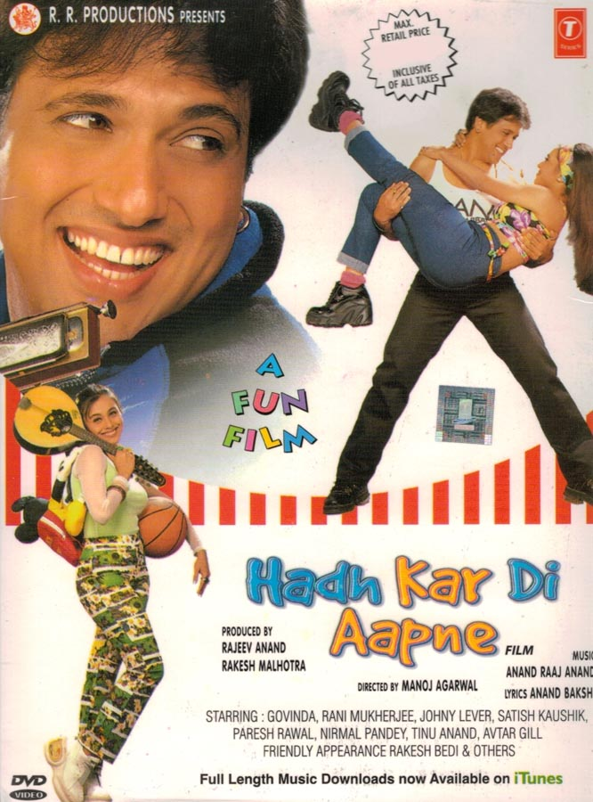 Govinda and Rani Mukerji in Hadh Kar Di Aapne (2000)