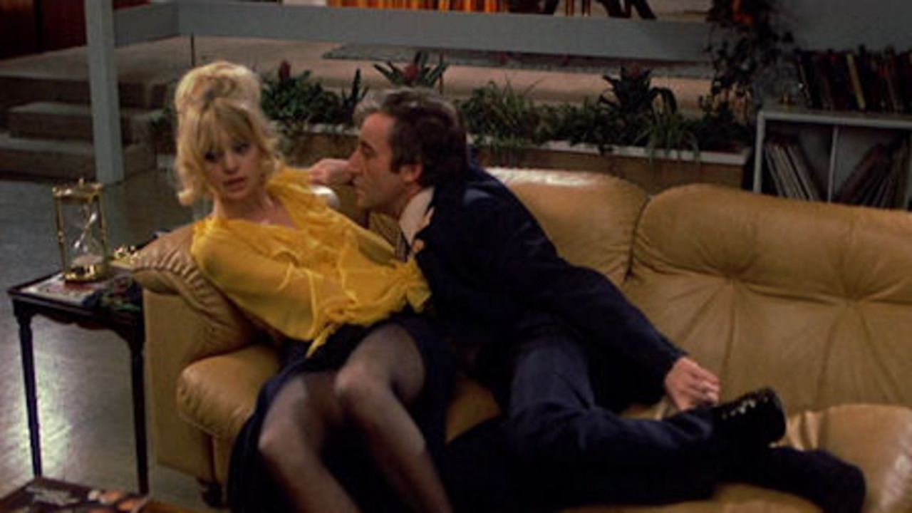 Goldie Hawn and Peter Sellers in There's a Girl in My Soup (1970)
