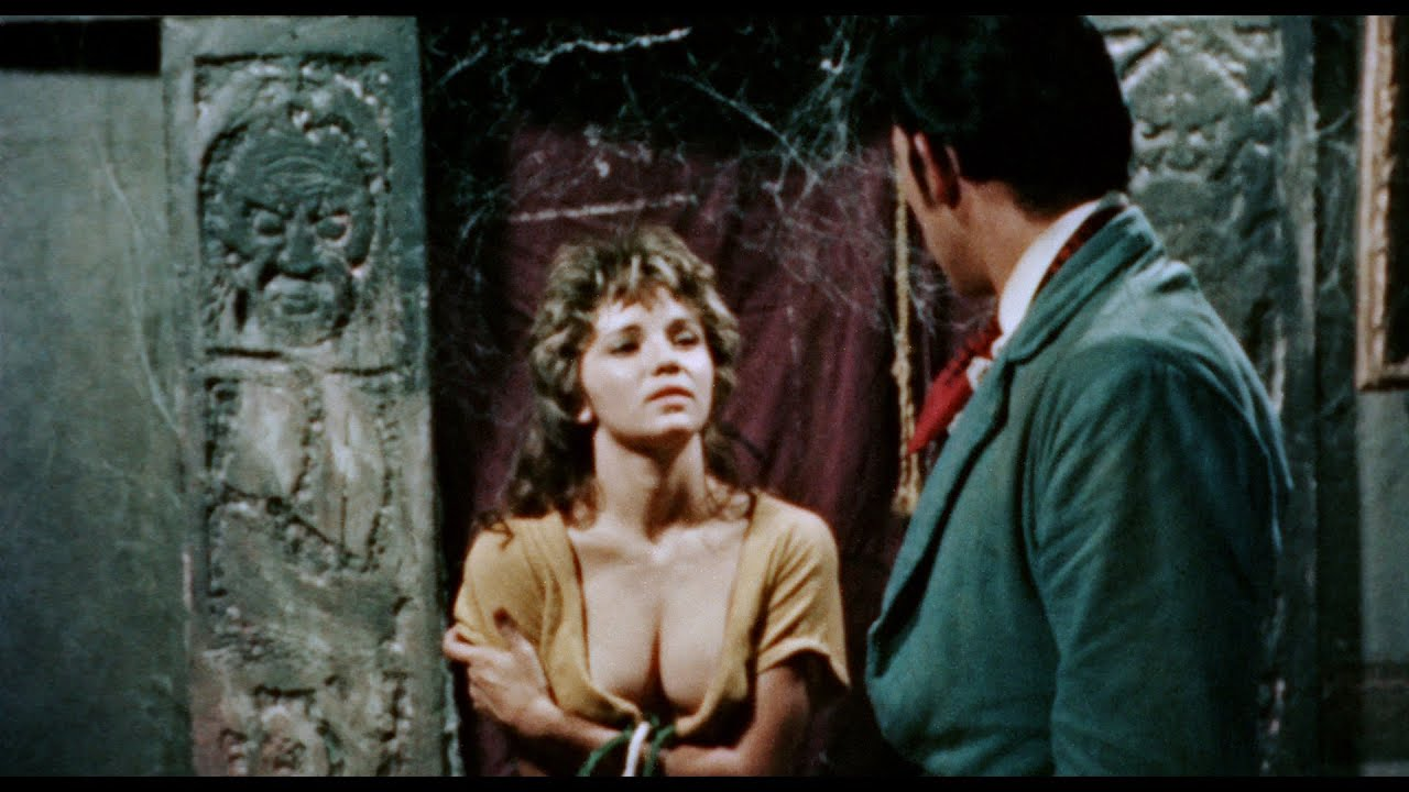 Michele Buquor and Russ Harvey in The Dungeon of Harrow (1962)